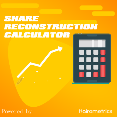 share reconstruction finance calculator